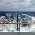 Trolling on the Selenas Ensenada Sportfishing Charter Boat